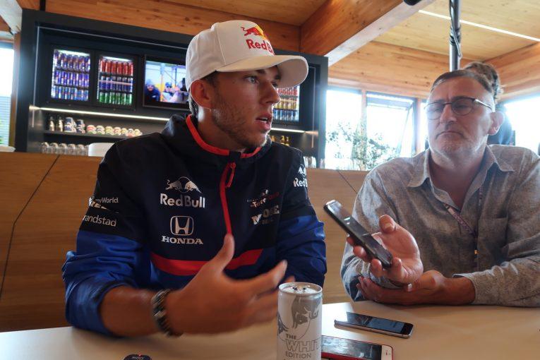 F1   ガスリー木曜インタビュー:ほとんど笑顔を見せずも「今やるべきことは未来を見据えてベストを尽くすこと」/F1ベルギーGP