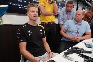 F1 | ハース入りが噂されるヒュルケンベルグ、過去に接触したマグヌッセンとの関係は気にせず/F1ベルギーGPインタビュー