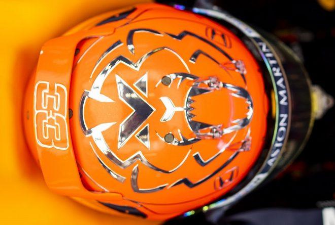 2019年F1第13戦ベルギーGP マックス・フェルスタッペン(レッドブル・ホンダ)のベルギー仕様のスペシャルヘルメット