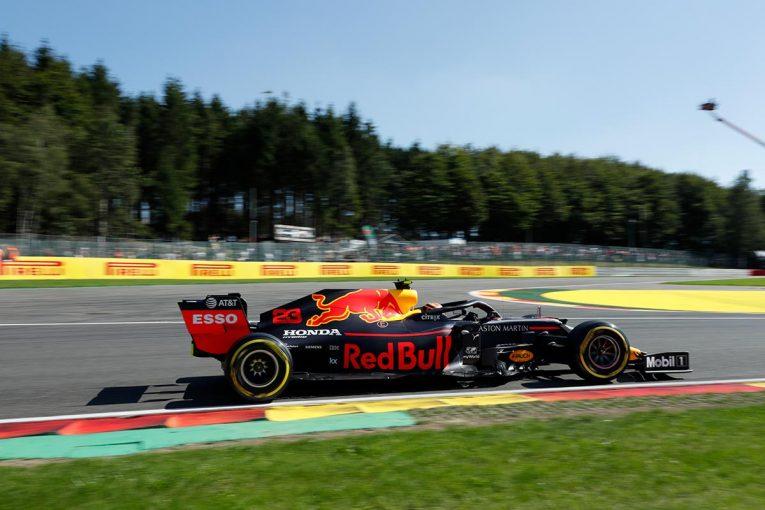 F1 | レッドブル・ホンダF1密着:移籍後初の走行でアルボンが好走。性能未知数のスペック4は最適化を進める/F1ベルギーGP金曜