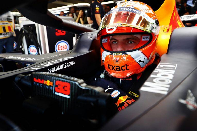 F1   スペック4新ホンダPU搭載のフェルスタッペン「グリッド降格でも問題なし。オーバーテイクを繰り返して二強の後ろには戻れる」