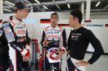 8号車をシェアする(左から)ブレンドン・ハートレー、セバスチャン・ブエミ、中嶋一貴