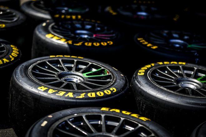 グッドイヤーのLMP2用レーシングタイヤ。山下健太を擁するハイクラス・レーシングをはじめ3チームに供給される。