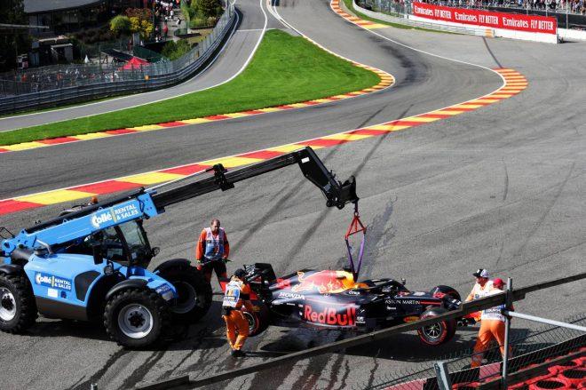 2019年F1第13戦ベルギーGP決勝 マックス・フェルスタッペン(レッドブル・ホンダ)はリタイアを喫してしまった