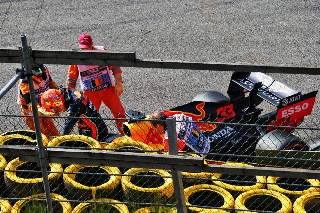 2019年F1第13戦ベルギーGP マックス・フェルスタッペン(レッドブル・ホンダ)が決勝でクラッシュ
