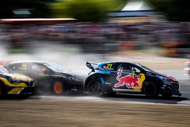 ラリー/WRC | 世界ラリークロス第8戦:プジョー操るティミー・ハンセンが3勝目。タイトル争いは2点差で3名が並ぶ激戦