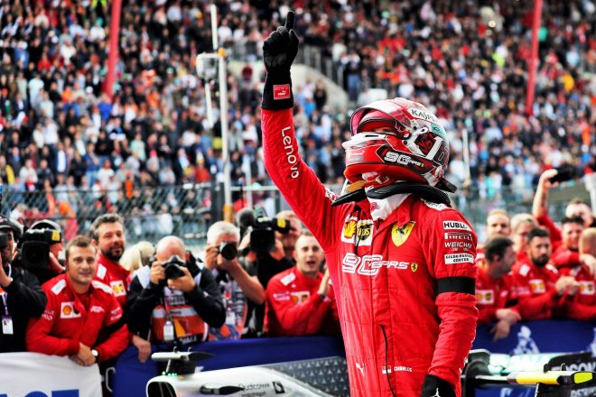 2019年F1第13戦ベルギーGP シャルル・ルクレール(フェラーリ)が勝利を亡き友アントワーヌ・ユベールに捧げる