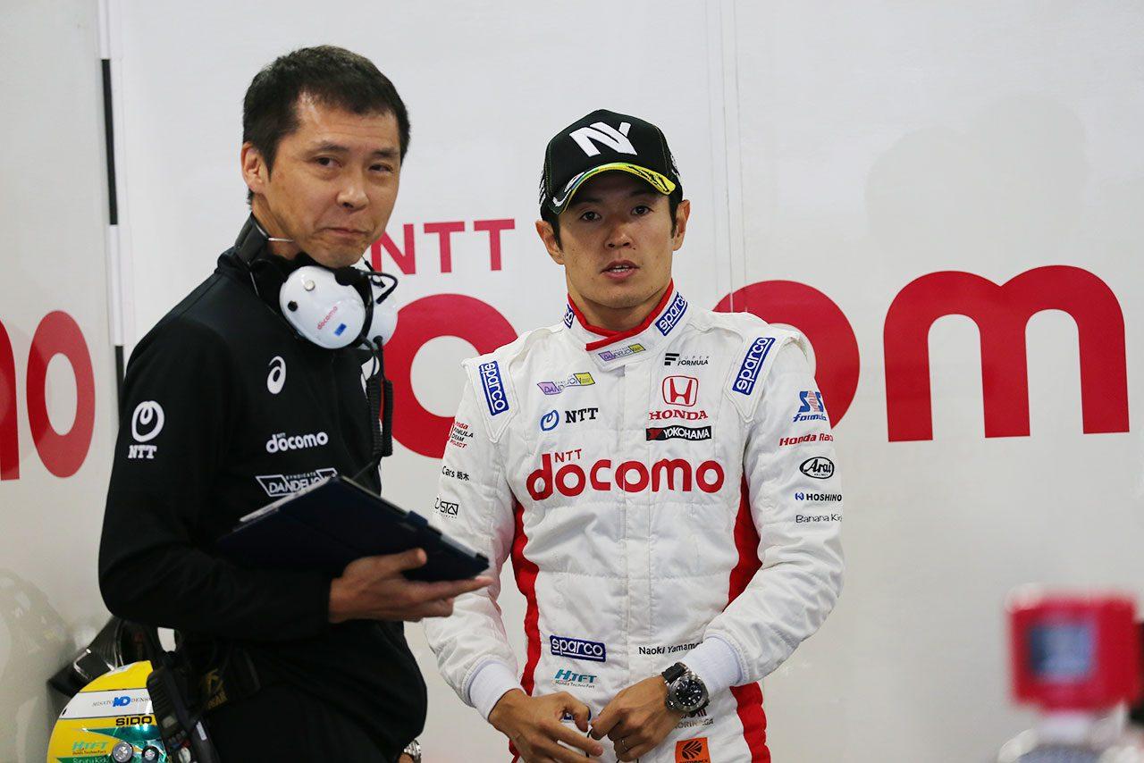 山本尚貴(DOCOMO TEAM DANDELION RACING)と杉崎公俊エンジニア