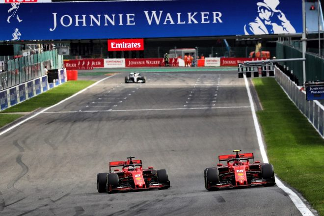 2019年F1第13戦ベルギーGP セバスチャン・ベッテル(フェラーリ)、チームの指示でシャルル・ルクレールを前に出す