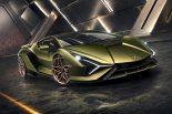 フランクフルト・モーターショーでお披露目されるシアンは、Verde Gea(グリーン)に Oro Electrum(エレクトリックゴールド)の ディテールという特別なデザインとなる。
