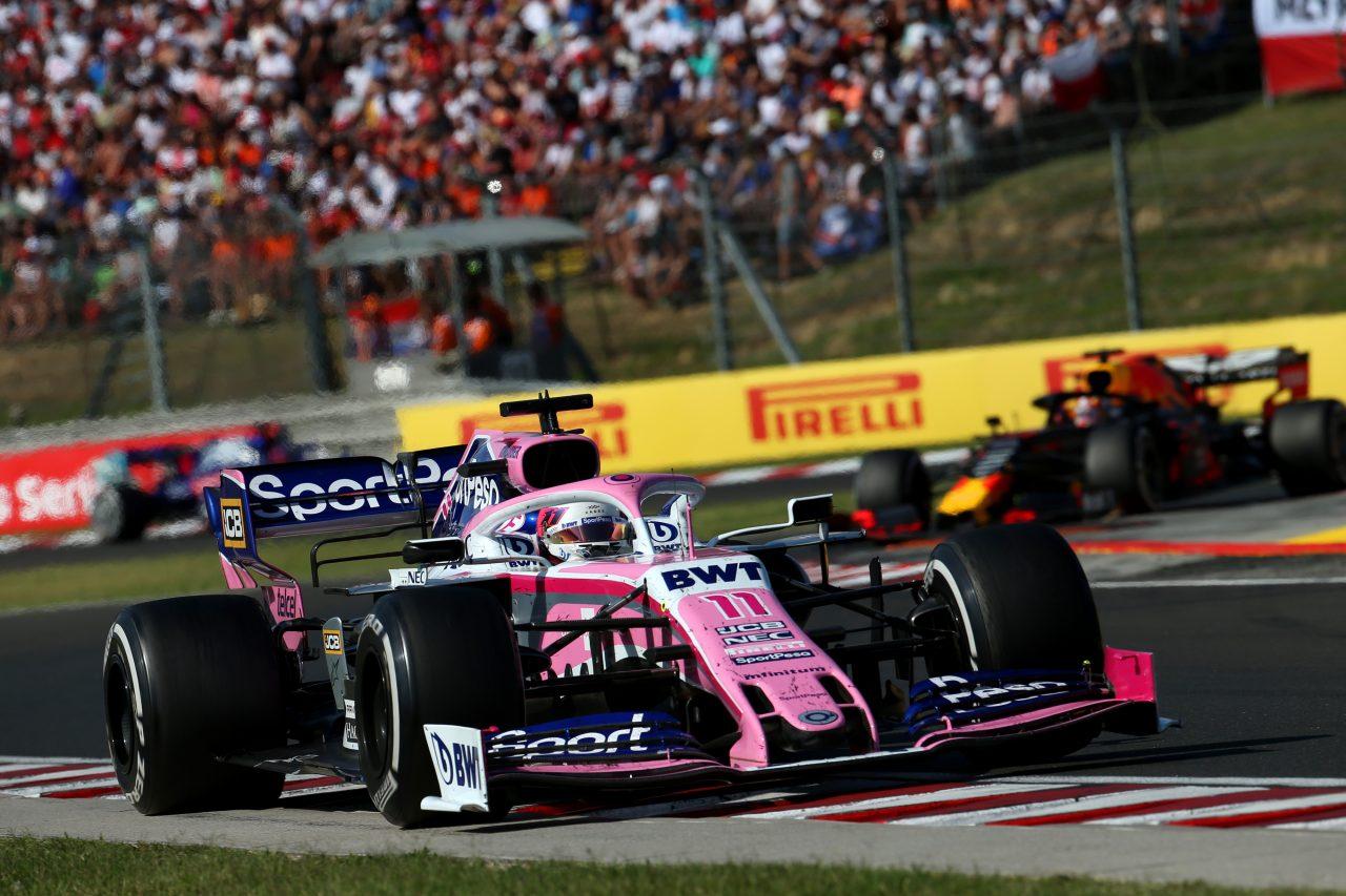 2019年F1ハンガリーGPでのペレス