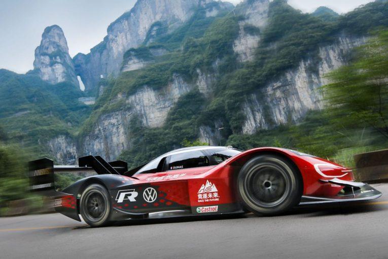海外レース他 | 電動アタッカーの『フォルクスワーゲンID.R』が中国・天門山で初の公式記録を樹立