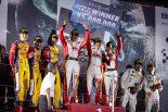 スーパーGT賞を勝ちとったメルセデスAMG・チーム・グッドスマイルの谷口信輝/片岡龍也/小林可夢偉