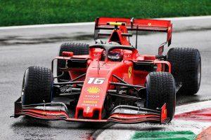 F1 | F1イタリアGP FP1:ウエット路面でスピン、コースオフが多発。最後にミディアムでアタックしたルクレールがトップ
