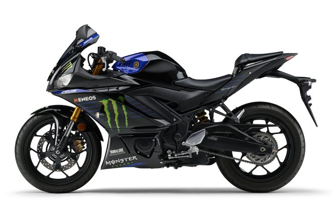 ヤマハYZF-R3 ABS Monster Energy Yamaha MotoGP Edition(左)