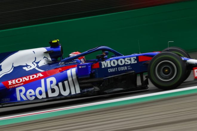 2019年F1第14戦イタリアGP金曜 ウエットコンディションで走行するピエール・ガスリー(トロロッソ・ホンダ)