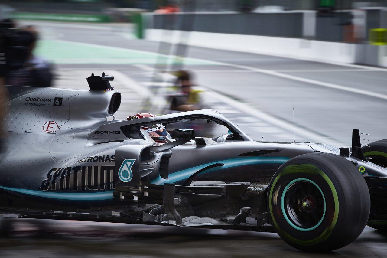 2019年F1第14戦イタリアGP金曜 ルイス・ハミルトン(メルセデス)