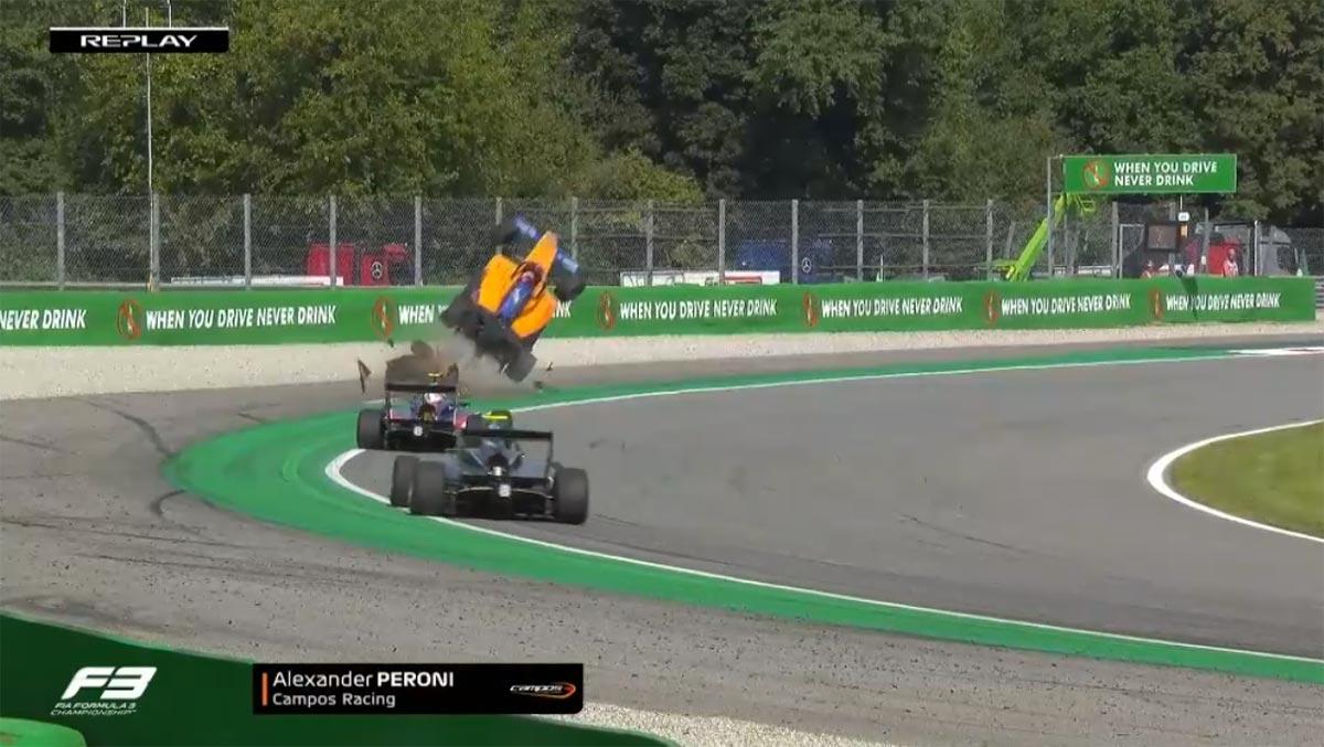 【動画】FIA-F3第7戦イタリア レース1でマシンが空を舞う大クラッシュ。ドライバーは無事