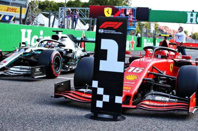 2019年F1第14戦イタリアGP シャルル・ルクレール(フェラーリ)がポールポジションを獲得