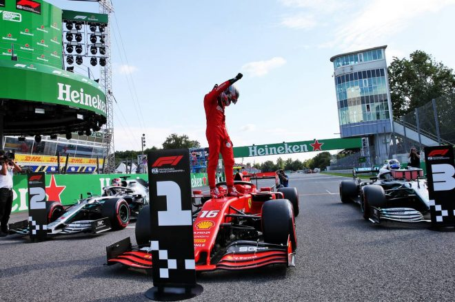 2019年F1第14戦イタリアGP シャルル・ルクレール(フェラーリ)が2戦連続でポールポジションを獲得