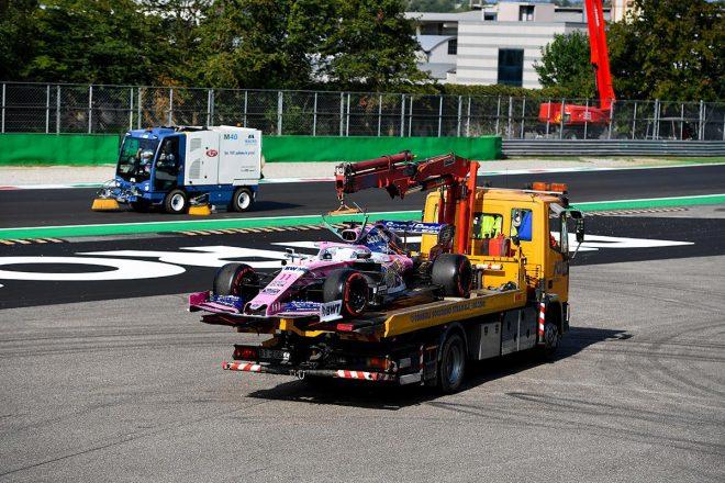 2019年F1第14戦イタリアGP セルジオ・ペレス(レーシングポイント)は予選Q1中にストップ