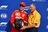 2019年F1第14戦イタリアGP ポールポジションを獲得したシャルル・ルクレール(フェラーリ)