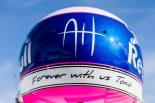 2019年F1第14戦イタリアGP ピエール・ガスリーがアントワーヌ・ユベールを追悼するヘルメット