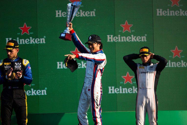 海外レース他 | 松下信治がユベールに捧げるシーズン2勝目でランキング6位浮上/【順位結果】FIA-F2第10戦イタリア レース1