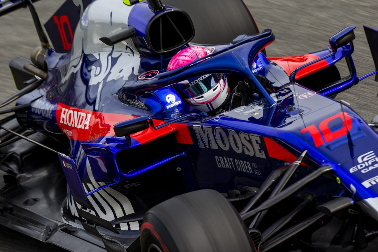 2019年F1第14戦イタリアGP土曜 ピエール・ガスリー(トロロッソ・ホンダ)がスペシャルヘルメットで走行