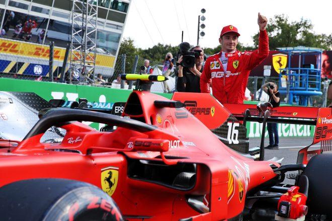 2019年F1第14戦イタリアGP土曜 シャルル・ルクレール(フェラーリ)がポールポジションを獲得