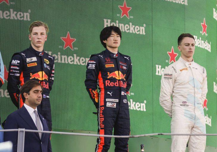 海外レース他 | 優勝の角田へ山本MDとマルコ博士も祝福/【順位結果】FIA-F3第7戦イタリア レース2