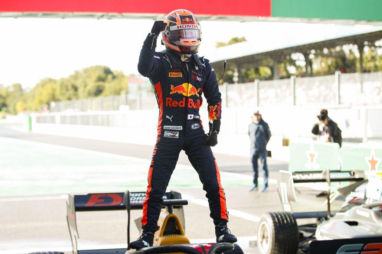【速報】角田裕毅が初優勝! 5台抜きで逃げ切り/FIA-F3第7戦イタリア レース2