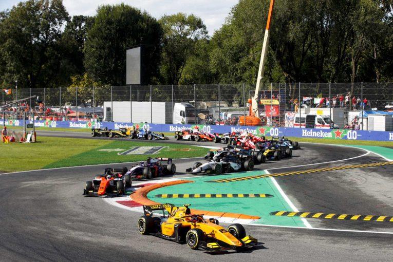 海外レース他 | FIA-F2第10戦イタリア レース2:エイトケンが2勝目。松下は3番手フィニッシュもミスで5位に。佐藤も健闘