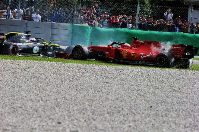 2019年F1第14戦イタリアGP セバスチャン・ベッテル(フェラーリ)はスピンとペナルティにより最後尾に転落
