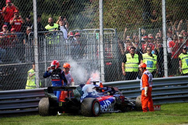 2019年F1第14戦イタリアGP日曜 ダニール・クビアト(トロロッソ・ホンダ)、トラブルでリタイア