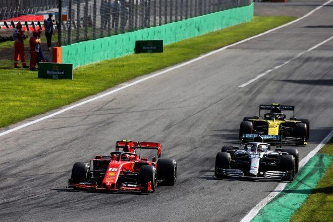2019年F1第14戦イタリアGP決勝 ルイス・ハミルトン(メルセデス)とシャルル・ルクレール(フェラーリ)