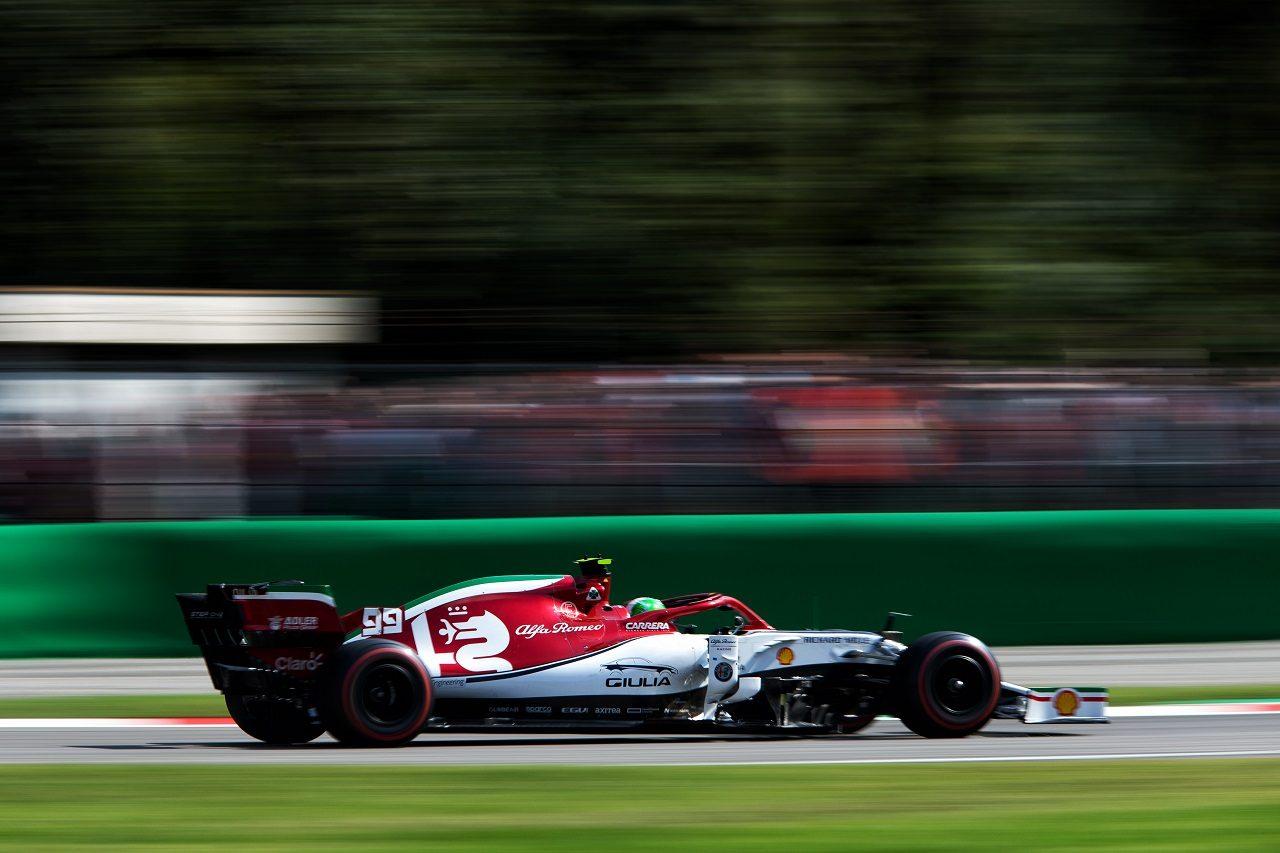 2019年F1第14戦イタリアGP アントニオ・ジョビナッツィ(アルファロメオC38)
