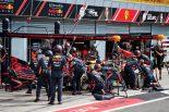 2019年F1第14戦イタリアGP マックス・フェルスタッペン(レッドブル・ホンダ)はレーススタート時の接触でフロントウイングを交換