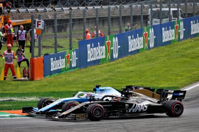 2019年F1第14戦イタリアGP ロマン・グロージャンとジョージ・ラッセルのバトル