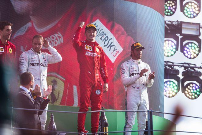 2019年F1第14戦イタリアGP 優勝はシャルル・ルクレール、2位バルテリ・ボッタス、3位ルイス・ハミルトン
