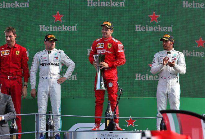 2019年F1第14戦イタリアGP 表彰台