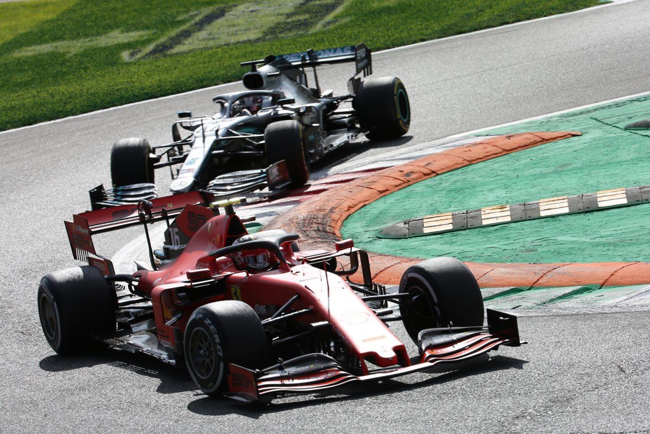 2019年F1イタリアGPでのルクレールとハミルトン