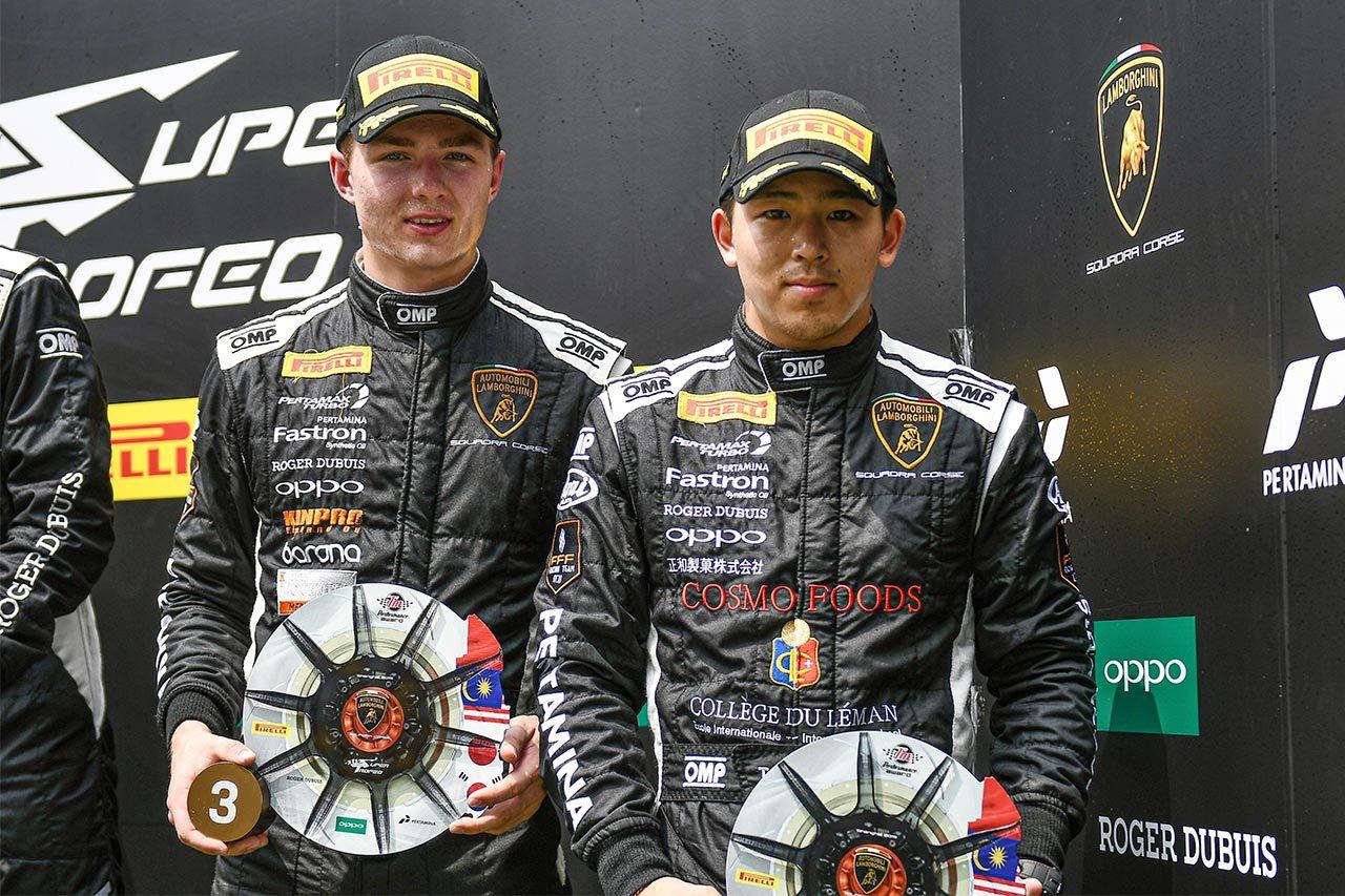 笠井崇志、ランボルギーニ・スーパートロフェオ上海で表彰台。王座争い首位で最終戦へ