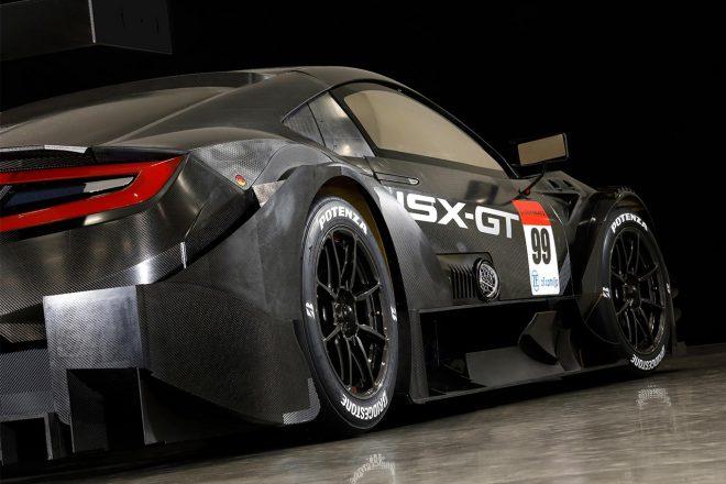 2020年モデルのホンダNSX-GT。これまでリヤにあったエキゾースト出口はなくなった。