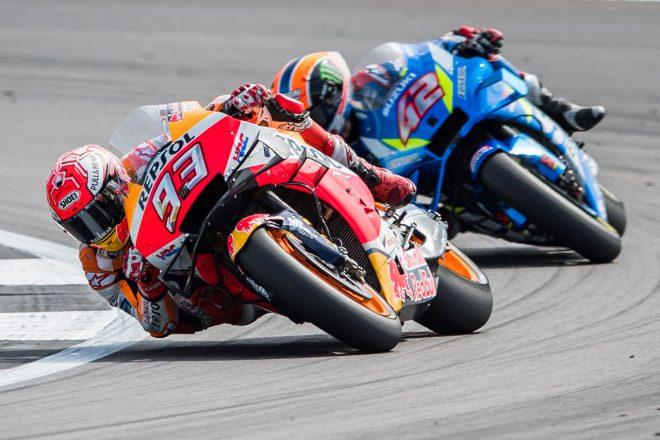 チャンピオンシップでライバルのアンドレア・ドヴィツィオーゾがリタイアしてもプッシュし続けたマルク・マルケス(レプソル・ホンダ・チーム)