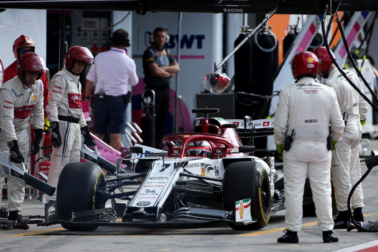 2019年F1イタリアGP キミ・ライコネン(アルファロメオ)のピットストップ