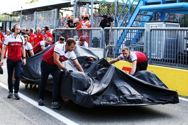 2019年F1イタリアGP キミ・ライコネン(アルファロメオ)が予選でクラッシュ