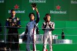 FIA-F2イタリアのレース1で優勝した松下信治