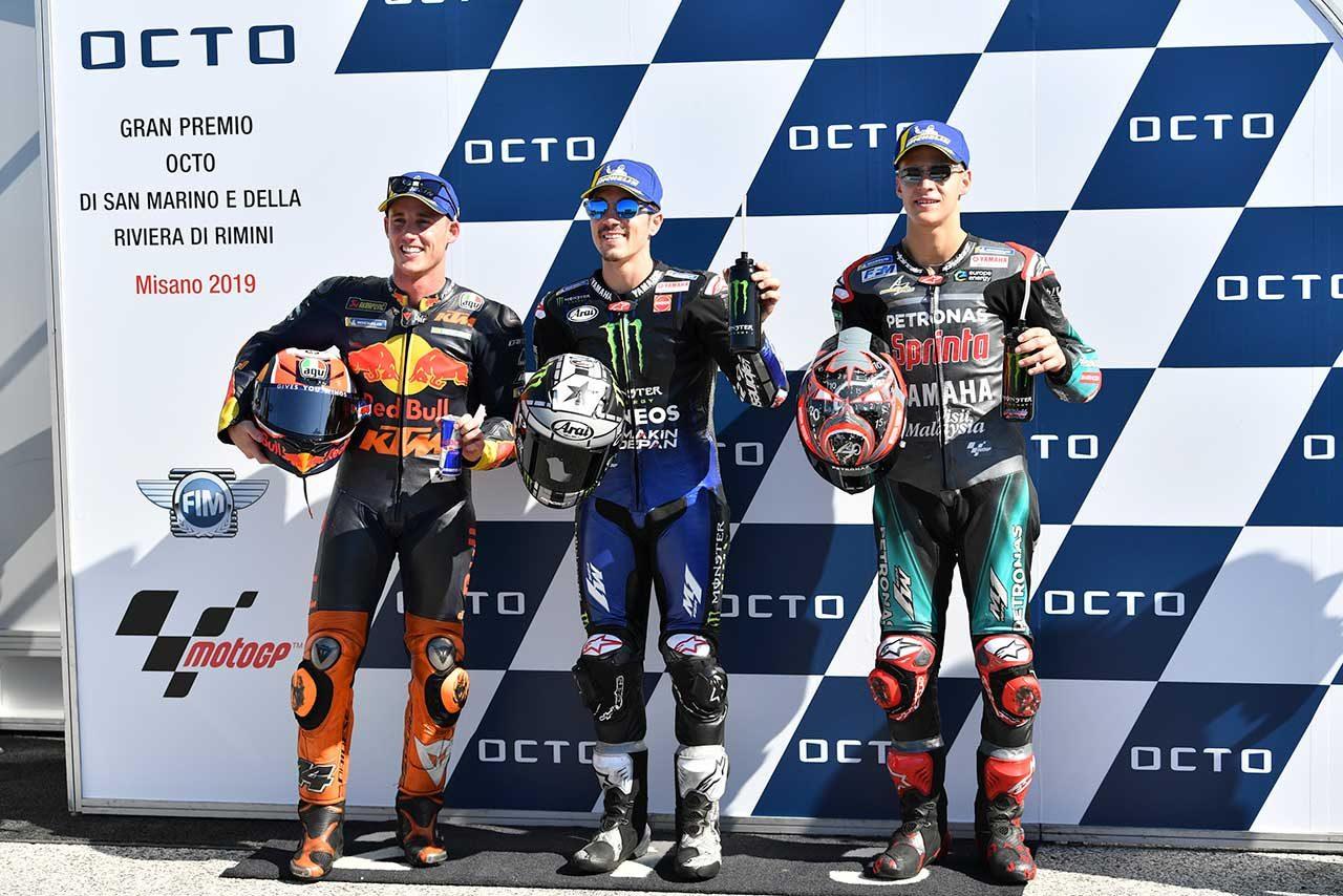 開幕戦以来のポール獲得のビニャーレス「速かった理由は…」/MotoGP第13戦サンマリノGP 予選トップ3コメント