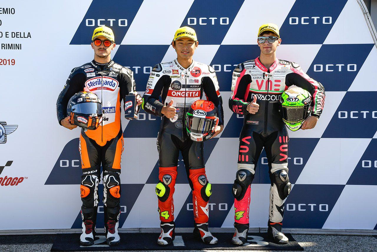 MotoGPサンマリノGP:Moto3で初ポール獲得の鈴木竜生、厳しい路面状況のなか「Q1ではリスクを負った」